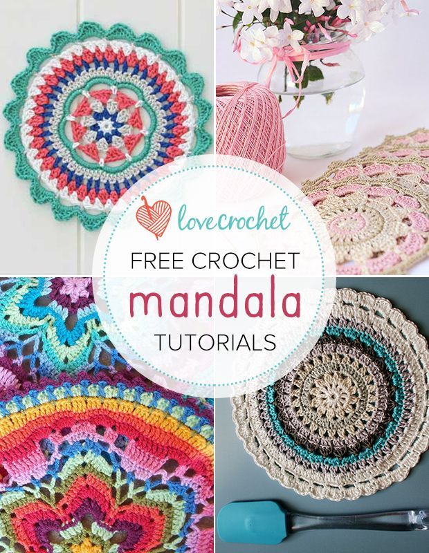 LoveCrochet |  A crochet mandala is like a doily for the 21st century, and we love them.  Love this post? Pin this image! If you love mandalas, you'll love this post – a collection of our favorite fre