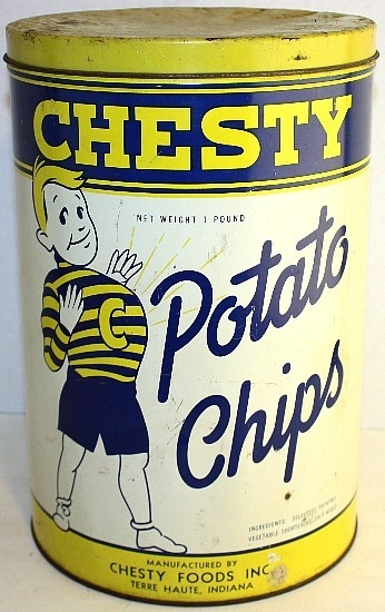 1940's Chesty Potato Chips Terre Haute, Indiana