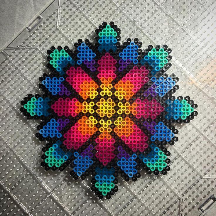Daisy perler beads by aeonmetrik More