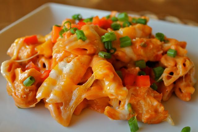 This is the BEST pasta ever!  Cheesy Chicken Enchilada Pasta | Mrs. Schwartz's Kitchen