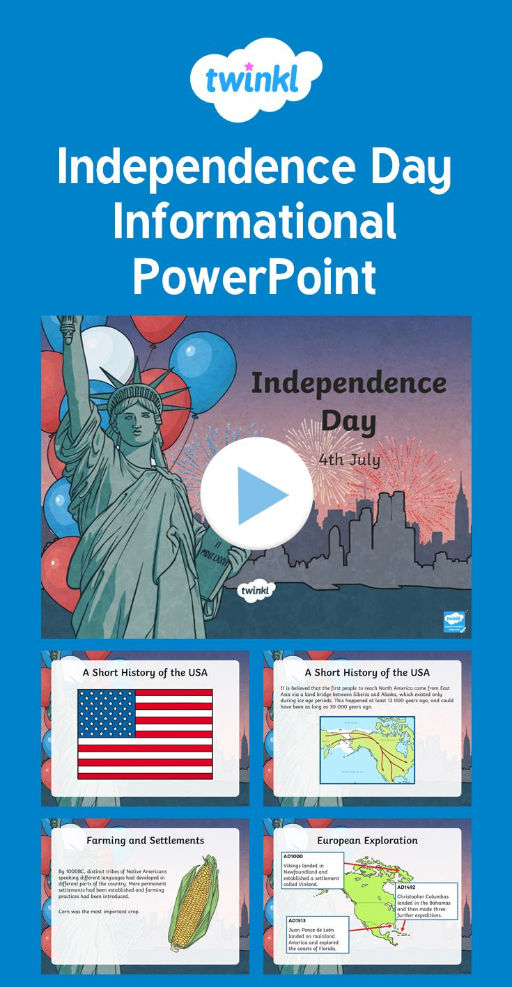 This Independence Day Informational PowerPoint provides lots of historical information about the origination of Independence Day. It is the perfect starting point for your Independence Day teaching and learning.