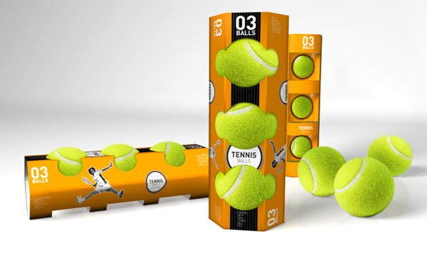 experimental package for tennis balls by Big Design , via Behance