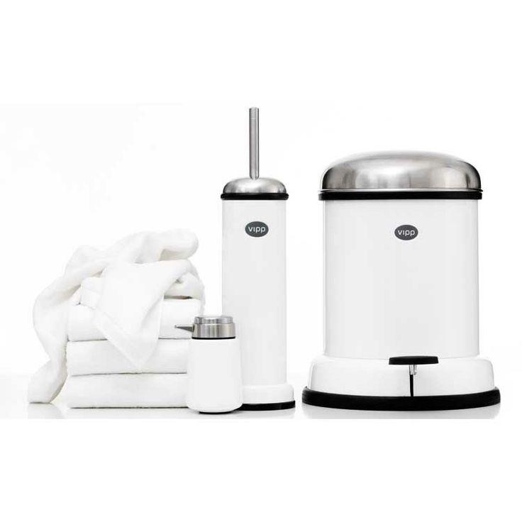 Vipp 13 Pedal bin,white, 1 gal - Vipp - Vipp - RoyalDesign.com #design #royaldesign #decor #interiordesign #inredning #homedecor #heminredning #bathroom #badrumsinredning