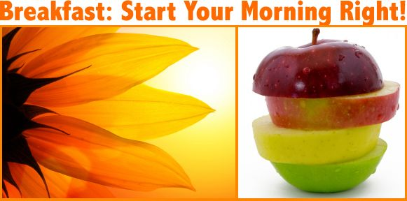 Breakfast lets you start the day healthily