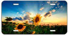 CUSTOM LICENSE PLATE SUNSET SUNFLOWER