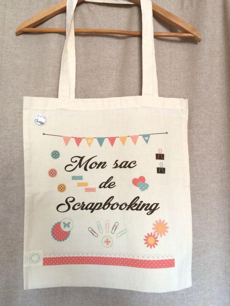 Tote bag coton scrapbooking : Sacs à main par atelier1987