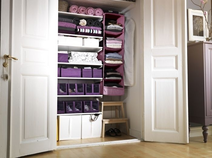 Organization Resolution Tip - Use SKUBB organizers in various colors and sizes to clear the clutter in the closet!