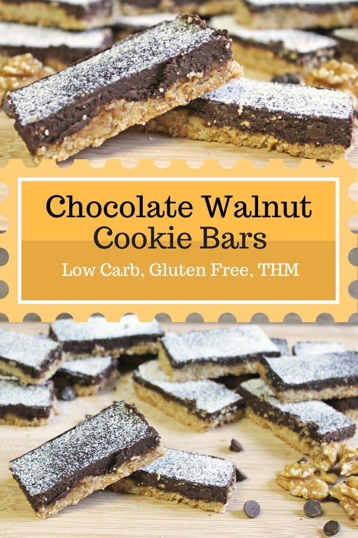 Chocolate Walnut Cookie Bars Low Carb And Gluten Free Trim