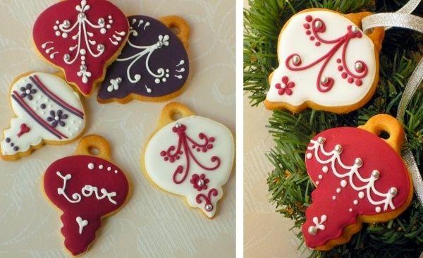 Weihnachtsbaum Ornamente-Figuren selbermachen-Verzieren Plätzchen