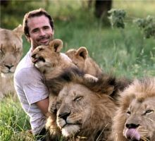 Kevin Richardson -the Lion Whisperer says the lions are very social creatures and they have feelings & emotions...he has been living, sleeping & eating with these lions since they were cubs. I WANT TO MARRY HIM