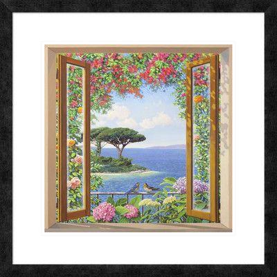 "Global Gallery 'Sulla costa mediterranea' by Andrea Del Missier Framed Graphic Art Size: 26"" H x 26"" W x 1.5"" D"