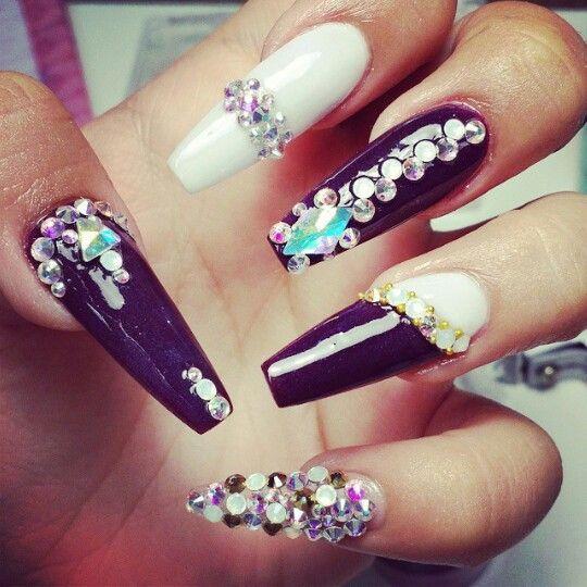 Black and White Swarovski Bling Nail Art Design - Best 25+ Bling Nail Art Ideas On Pinterest Bling Nails, Nail