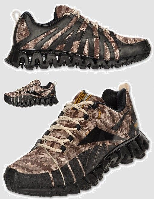 REEBOK PREMIER ZIG WILD TR MENs TRAIL RUNNING SHOE CAMO / BLACK BRAND - my son would love these!