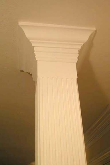 17 best images about painted trim on pinterest for Crown columns