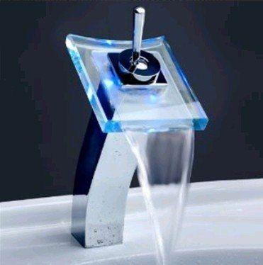 torneira cascata c led e misturador monocomando frete grat-2