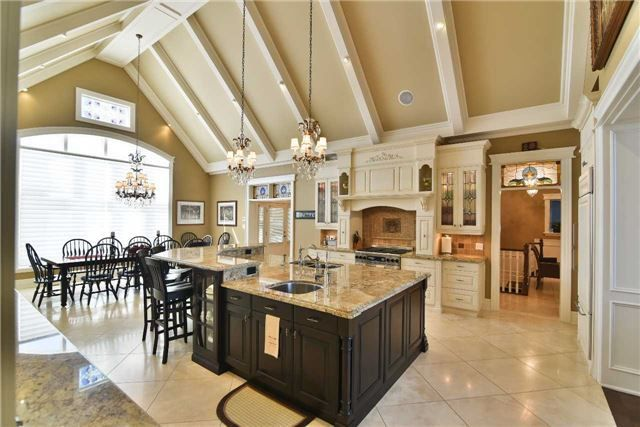 Open concept kitchen and dining room. Love the detail!
