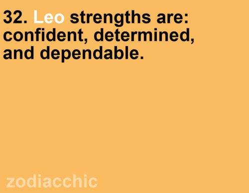 Leo strengths.
