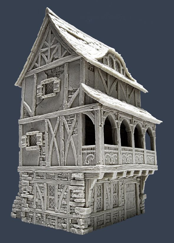 Town House Ii Side Fantasy House Medieval Houses