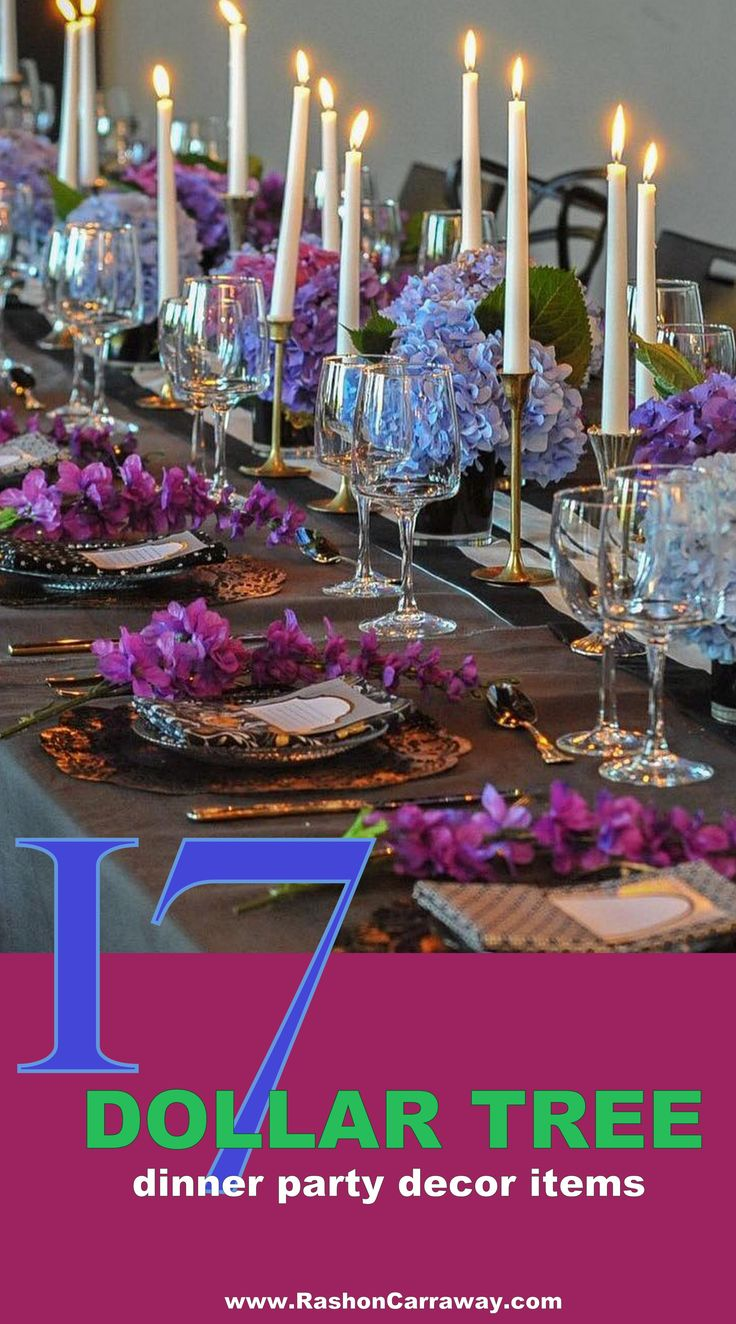 Nice Crazy Dinner Party Ideas Part - 8: Want To Know How To Use Dollar Tree Items To Make A Beautiful Table Scape?