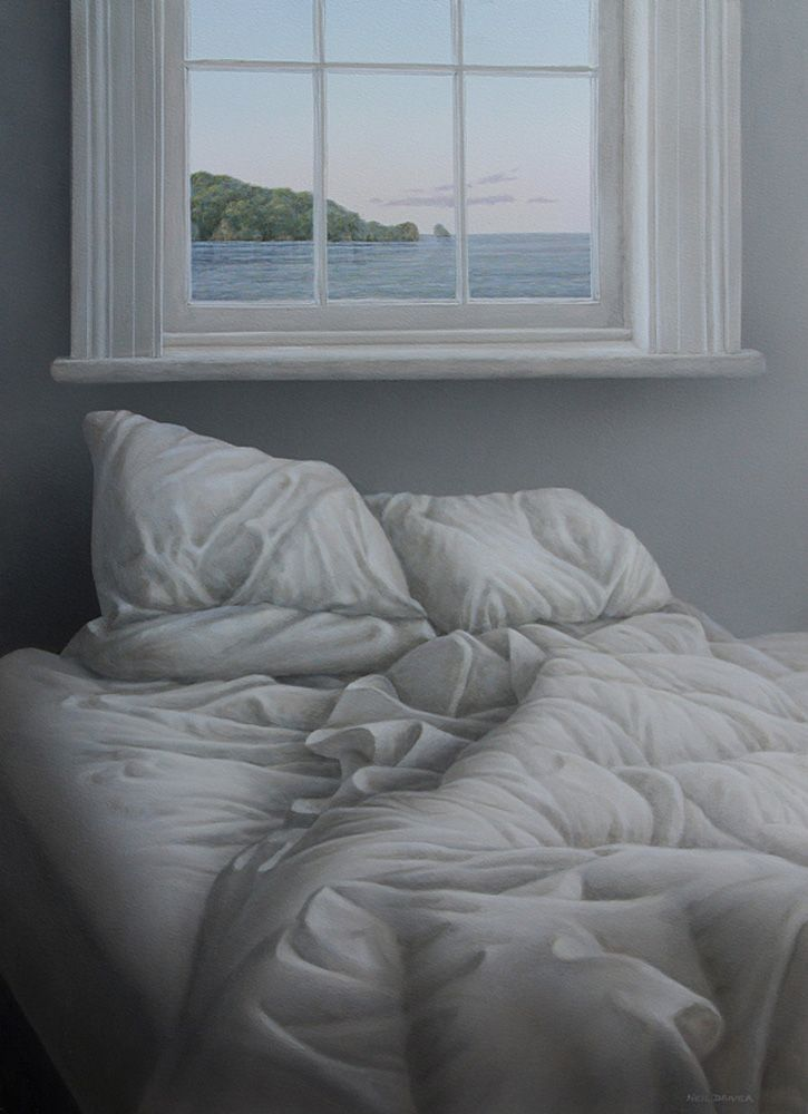 Parnell Gallery artist Neil Driver Bed Under Window Painting Art NZ http://www.parnellgallery.co.nz/artworks/artist-neil-driver/bed-under-window-2/