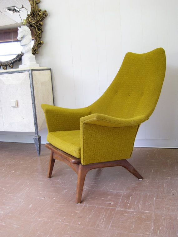 Mid Century Modern Lounge Chair in Mustard Yellow   Chartreuse75 best have a seat images on Pinterest   Lounge chairs  Chairs  . Modern Yellow Lounge Chair. Home Design Ideas