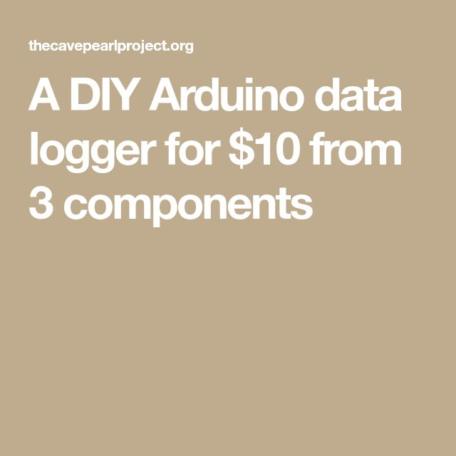 A DIY Arduino data logger for $10 from 3 components