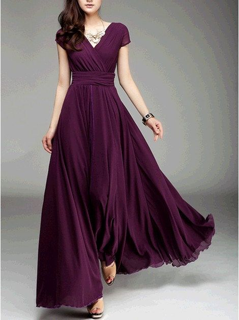 Women's Chiffon Long Skirt circumference Long by colorfulday01, $89.99
