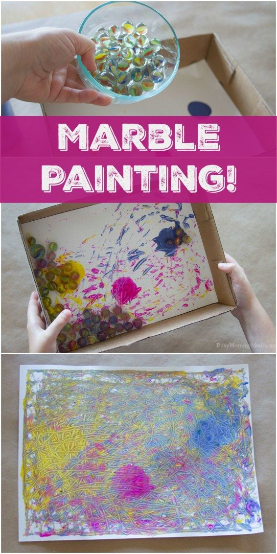 Marble Painting - Busy Mommy Media | Preschool art ...