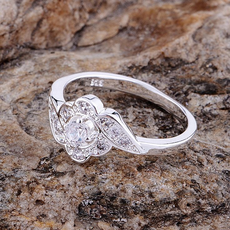 petaline graceful shiny Wholesale silver plated ring 925 Fashion jewelry Silver Ring 925sterling-silver NBDZMBPY