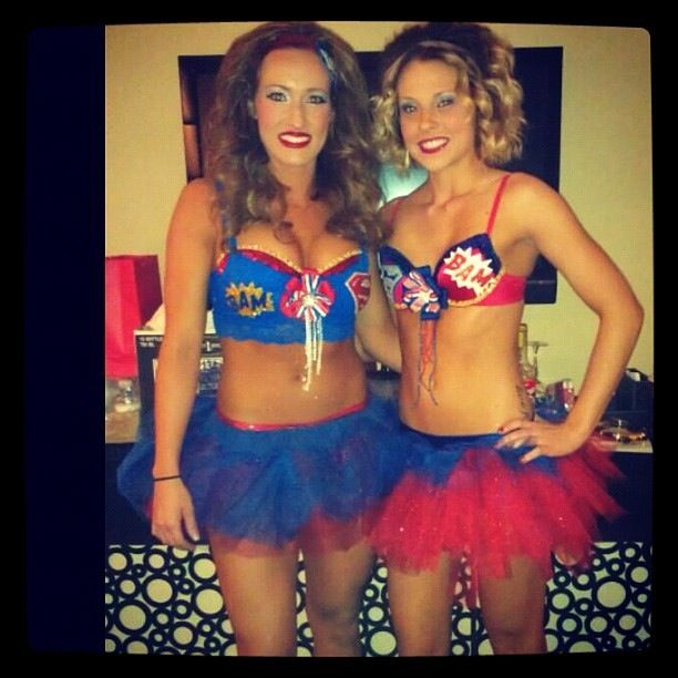 slutty superher... Funny Group Halloween Costumes Girls