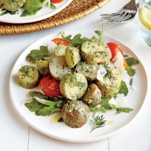 Pesto Potato Salad | via MyRecipes.com. What a delicious update to regular potato salad! A great recipe for spring/summer