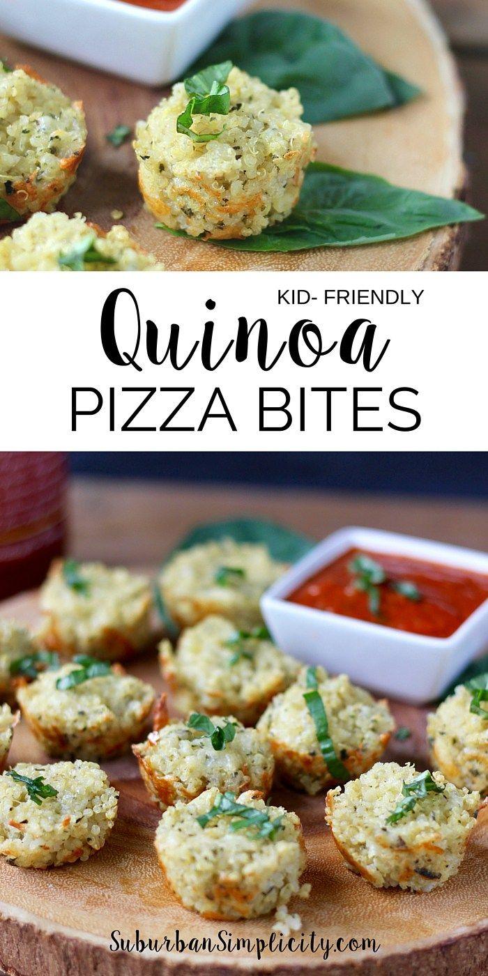 Kid Friendly Quinoa Pizza Bites