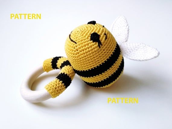 PATTERN - Bug rattles - Butterfly, Bee and Caterpillar - amigurumi ... | 428x570