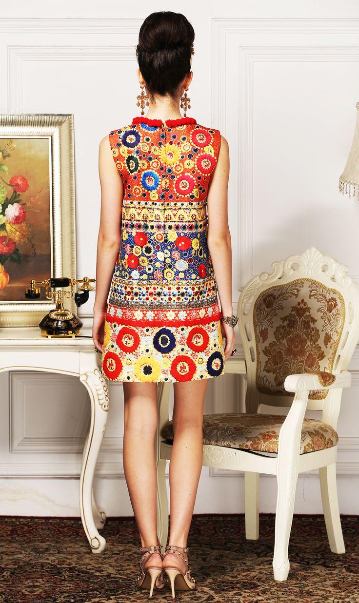 Aliexpress.com: Comprar Primavera y el verano 2016 moda runway estilo vintage tachonado pesado cosida mano de lana moda mujer chaleco vestido retro de vestido del chaleco fiable proveedores en Magia Store