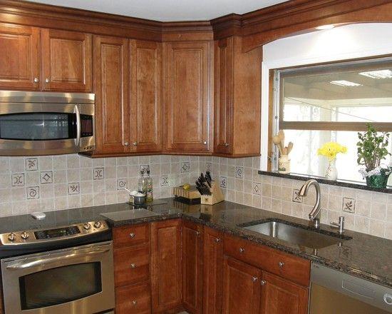 Kitchen Backsplash Hickory Cabinets 190 best country kitchen images on pinterest   kitchen ideas