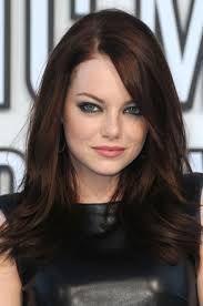 emma stone brunette hair