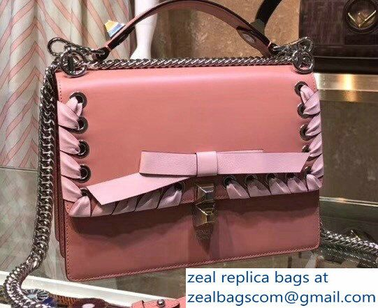 de3b6f09eab Fendi Medium Kan I Bag Threaded Decoration And Bow Pink 2018 ...