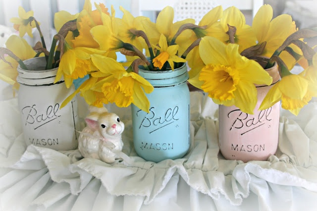 For the love of white: Spring Ball Jars  http://loveofwhite.blogspot.com/2013/03/spring-ball-jars.html