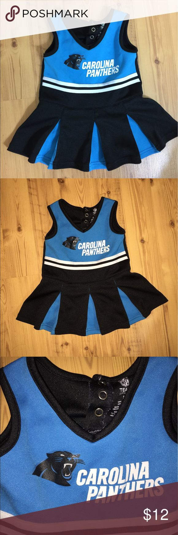 Size 2t Carolina Panthers cheerleader outfit Size 2t cheerleader dress without matching diaper cover, in Good condition with some wear Dresses