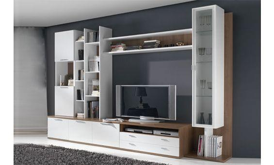 15 best mueble tv images on pinterest tv walls - Estantes de madera ...