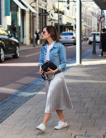25  best ideas about Silver skirt on Pinterest | Pleated skirt ...