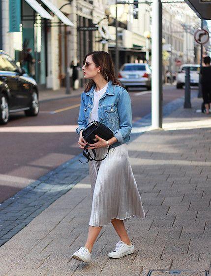 25  best ideas about Silver skirt on Pinterest | Pleated skirt ...