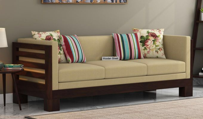 Best Buy Hizen 3 Seater Wooden Sofa Online In India Wooden 400 x 300