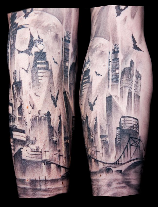 gotham city gotham and city tattoo on pinterest. Black Bedroom Furniture Sets. Home Design Ideas