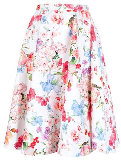 FRANKIE MORELLO Floral Flared Skirt