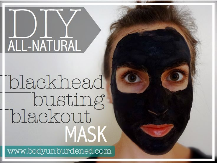 diy natural blackhead busting blackout mask