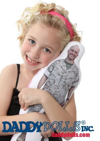 """Daddy/Mommy Dolls"" for kids of parents that are deployed.  I want to do this next year.  Highly recommended by child psychologists for very young children and parents ""worried"" their kids will forget them."