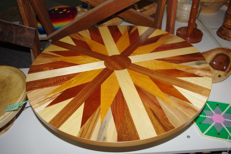 Stunning wooden lazy-susan, totally handcrafted. (Nov 2013)