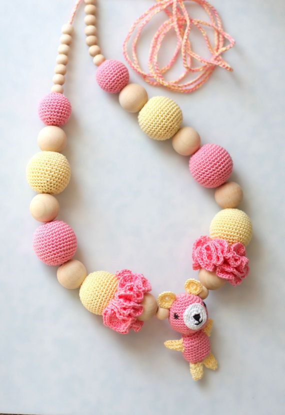Nursing necklace amigurumi bear Breastfeeding by ForeverValues, $34.00