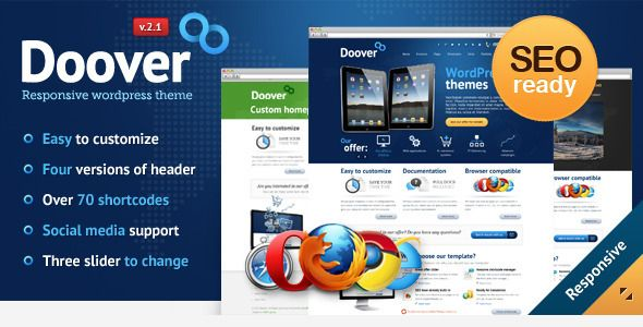 Doover Premium WordPress Theme   http://themeforest.net/item/doover-premium-wordpress-theme/2279114?ref=damiamio      WordPress 3.9 Ready Latest Version 2.1.6 – April 17, 2014 	    Doover is wonderful, professional and easy to use template with lots of options and configurations. This theme has been created for people who want to save their own time for create nice and great looking page. You don`t need to know any programming languages to have page as you want. Documentation and video…